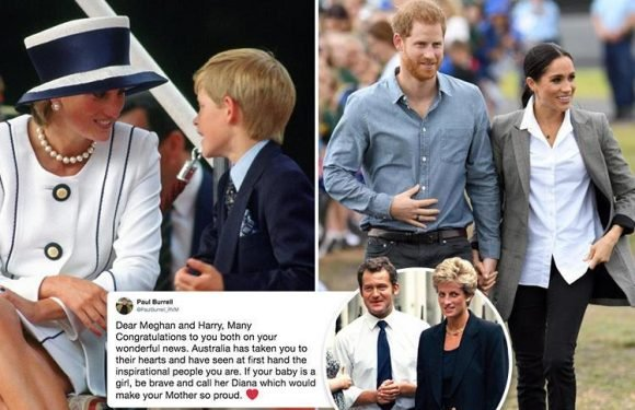 Princess Diana's former butler urges Prince Harry and Meghan Markle to 'be brave' and name their baby 'Diana'