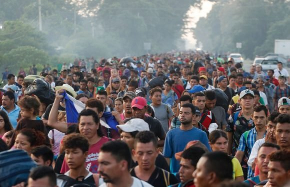 'You can't even walk, there's just so many people': Migrant caravan bound for US swells despite Trump threats