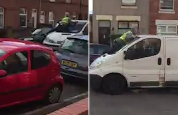Man fighting for his life after vanjackers throw him from windscreen
