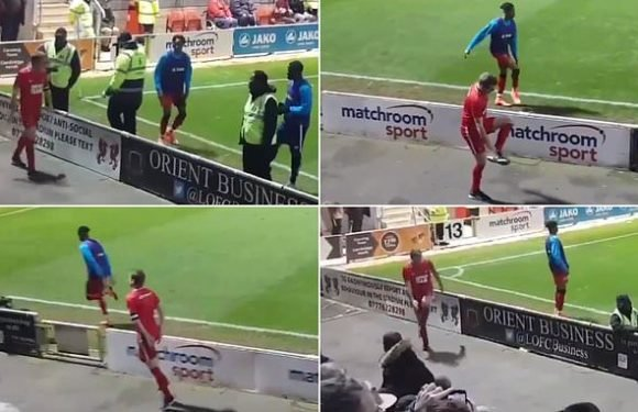 Leyton Orient fan mimics Bromley subs' warm-up in hilarious video