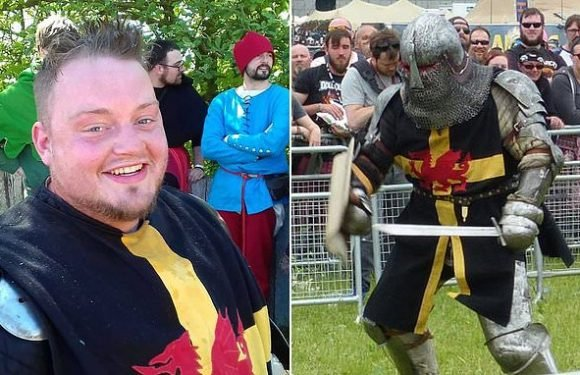 Medieval fan who drew his sword to scare off yobs is spared jail
