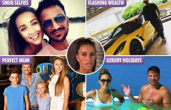 The five ways Katie Price is being tormented by Peter Andre's perfect life – from his smug family school run selfies to his pristine pad
