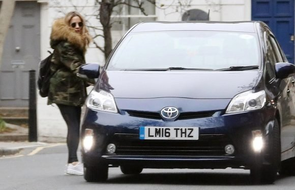 Caroline Flack seen for the first time since her ex-fiance Andrew Brady claimed she had threatened to kill herself