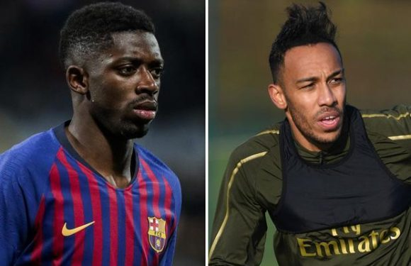 Arsenal back in for Barcelona star Ousmane Dembele and Pierre-Emerick Aubameyang could be key to move