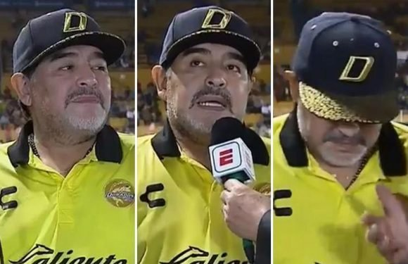 Diego Maradona leaves reporter hanging as he takes an age to answer question in incredibly awkward interview