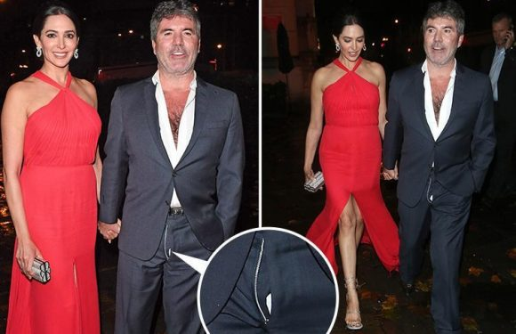Simon Cowell leaves charity ball with his flies undone and shirt unbuttoned