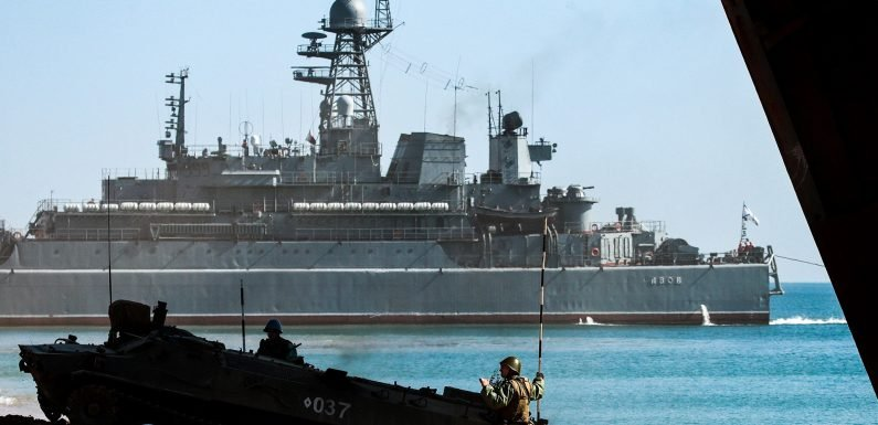 Ukraine says Russia fired at, seized naval ships