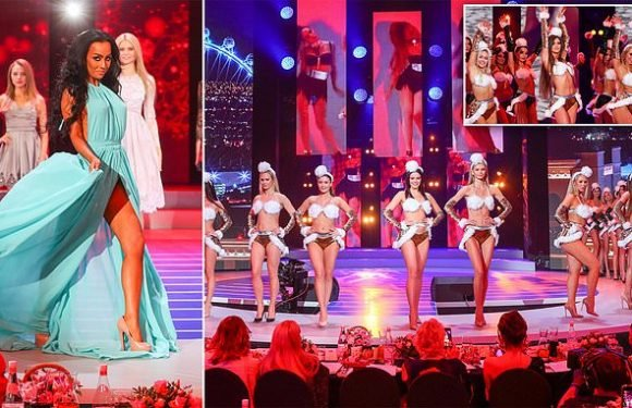Miss Moscow beauty pageant contestants stun in festive outfits