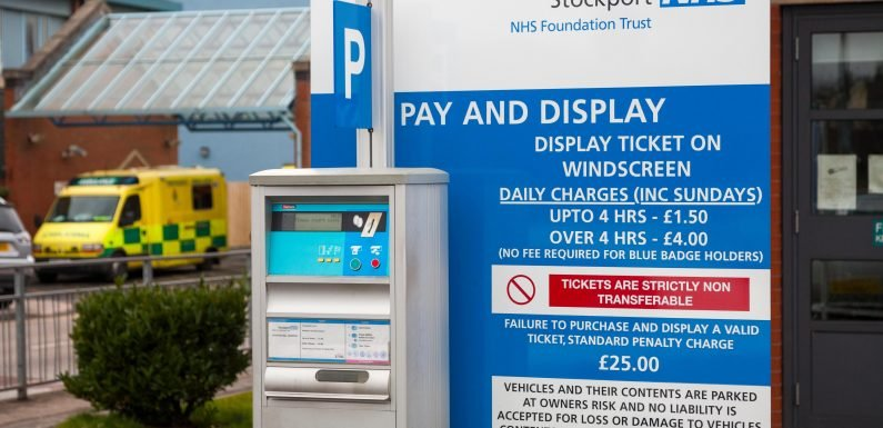 Fury as almost half of NHS hospitals hike parking charges – with some trusts doubling their tariffs