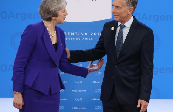 Theresa May vows Britain will defend Falklands as she becomes first Tory Prime Minister to meet Argentina leader in Buenos Aires since 1982 war