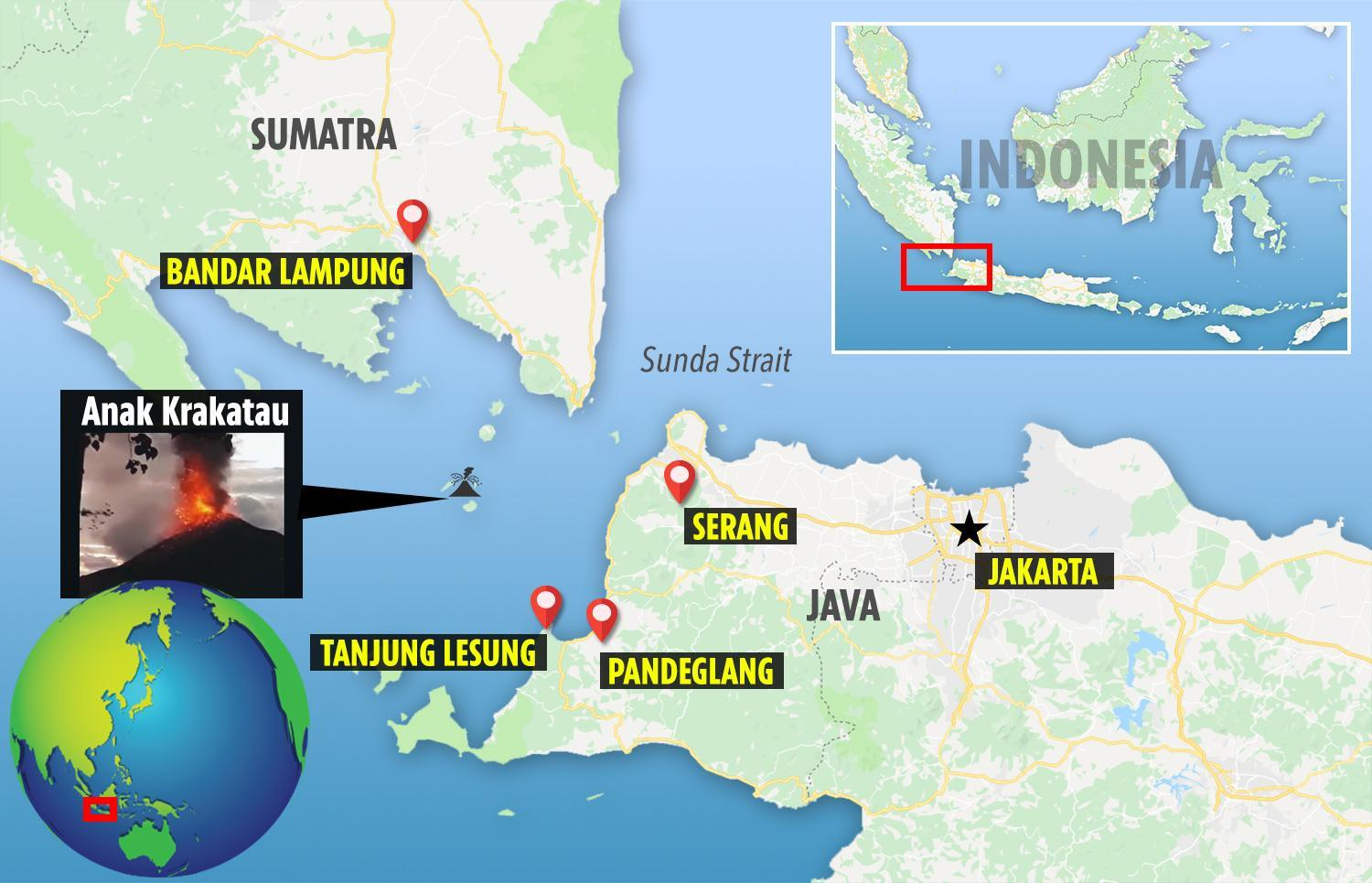 Indonesia tsunami map - where did the deadly Indonesia earthquakes ...