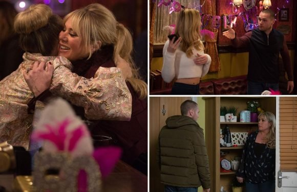 EastEnders spoilers: Sharon Mitchell horrified as she returns to catch lover Keanu Taylor with step-daughter Louise