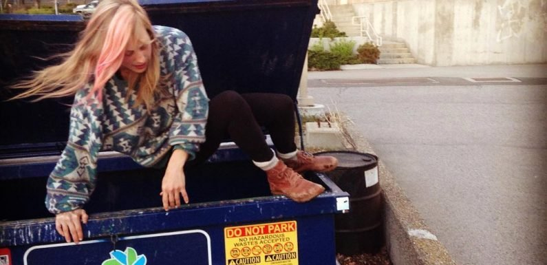 Couple save £160 per month by eating out of bins and confess they fell in love when they met in a skip