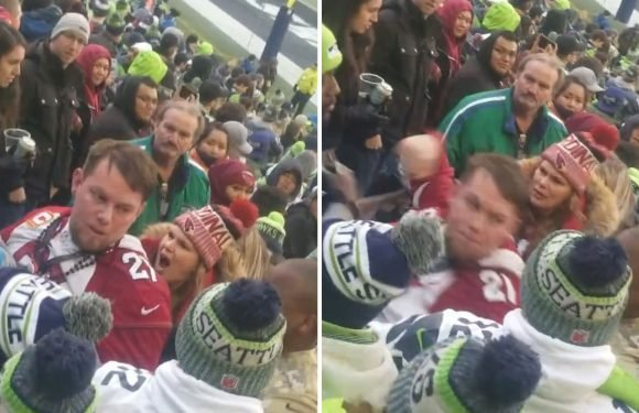 Hunt is on for man accused of attacking lesbians at Seahawks game