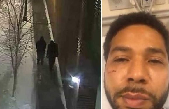Hunt for Jussie Smollett attackers as CCTV shows 'persons of interest' after Empire star had 'noose put around his neck'