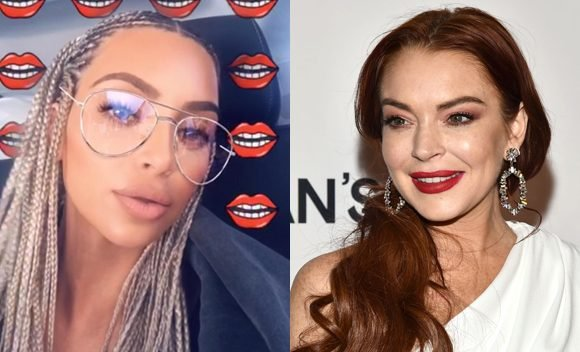 Lindsay Lohan's Still 'Confused' By Kim Kardashian's Braids But Insists They're 'Friends' After Diss