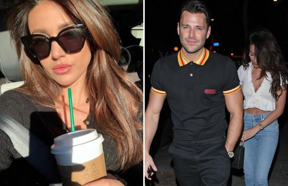 Michelle Keegan shows off her tanned midriff during date night with husband Mark in Hollywood