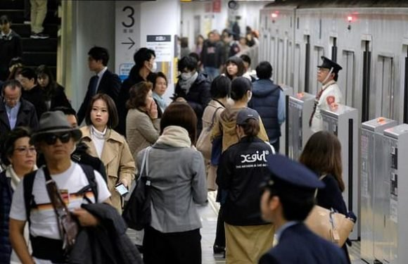 Tokyo commuters are given free NOODLES to help ease congestion