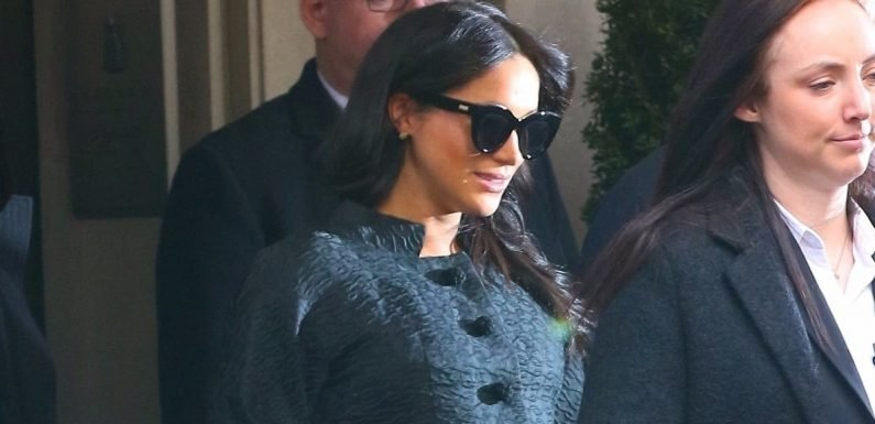 There She Is! Meghan Markle Is Glowing as She Celebrates Her Baby Shower in NYC