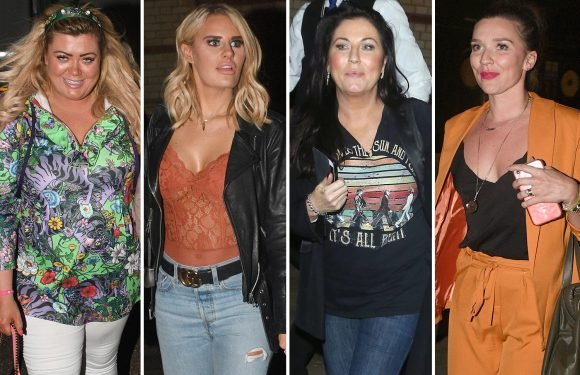 Gemma Collins, Danielle Armstrong, Jessie Wallace and Candice Brown look all partied out leaving All New Monty performance