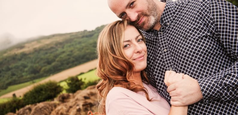 My 'gentle giant' husband collapsed and died in my arms just months before we planned to start a family
