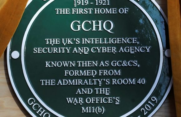The Queen unveils new GCHQ plaque containing secret message to mark 100 year anniversary