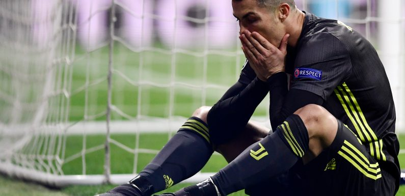 Ronaldo on verge of becoming £180m failed gamble with Juventus close to Champions League elimination