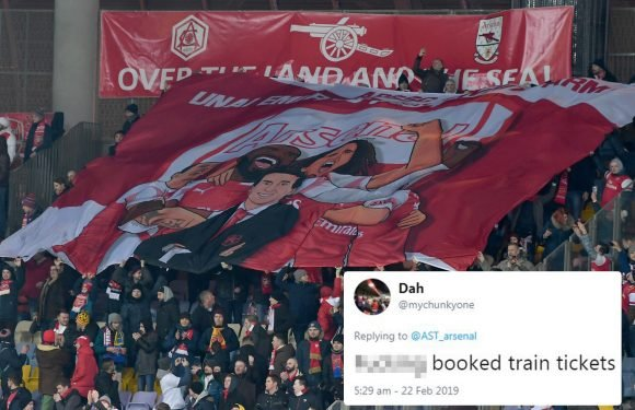 Arsenal fans furious after buying tickets before Uefa switch home and away legs for Europa League clash