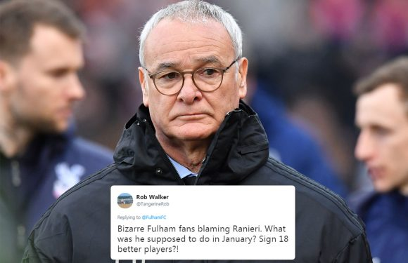 Fulham slated for sacking Ranieri but fed-up fans wildly celebrate the news