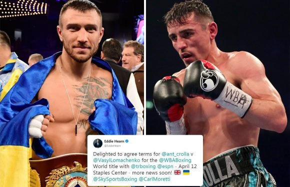 Crolla vs Lomachenko fight agreed for April 12 world title bout confirms Hearn