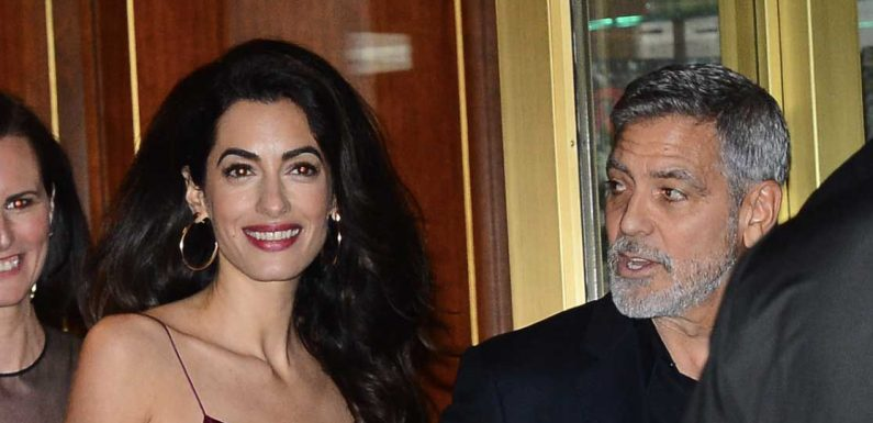 Amal Clooney Wore a Slinky Velvet Minidress to Jennifer Aniston's Party