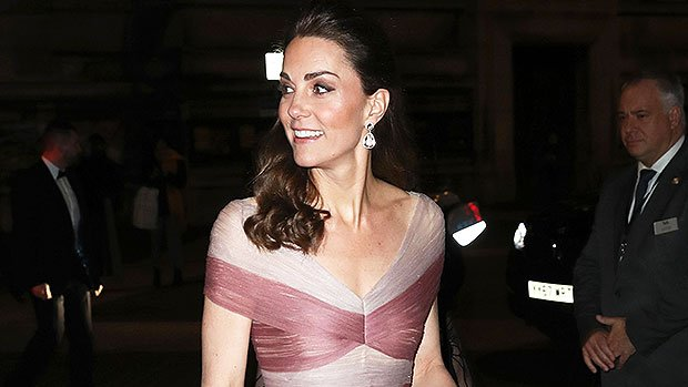Kate Middleton Looks Like A Fairy Princess In A Pink Tulle Gucci Gown & Sparkly Heels