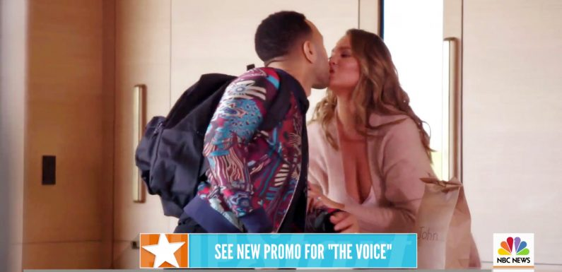 John Legend Gets Ready for First Day of The Voice with Some Sweet Support from Wife Chrissy Teigen