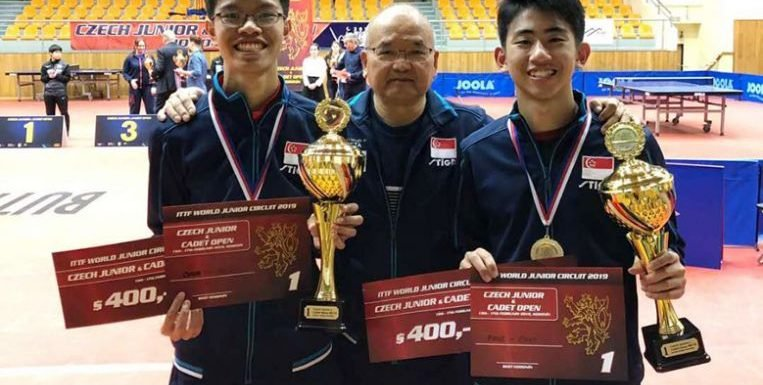 Table tennis: Koen and Josh win Czech junior doubles crown, will also be involved in team events