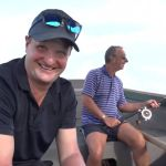 Bumble and Rob Key go fishing ahead of England's first ODI against Windies