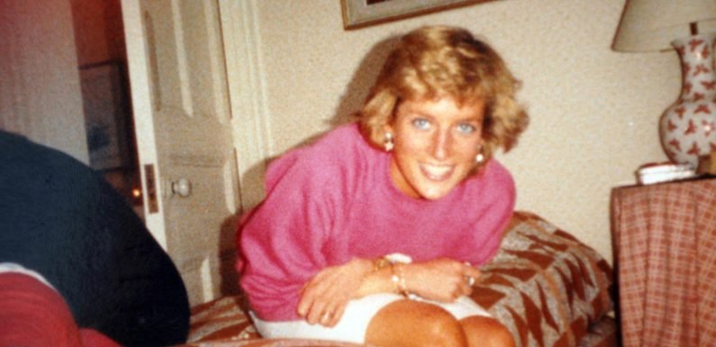 Princess Diana giggles on a bed and cradles a pal's baby in rarely seen photos taken by Harry and Wills