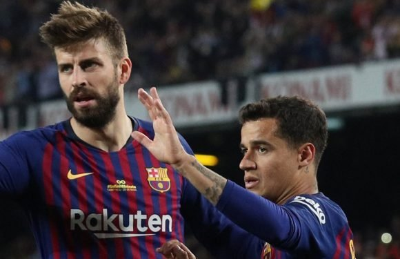 Coutinho 'has to accept fans' booing' after underwhelming season, says Barcelona team-mate Pique