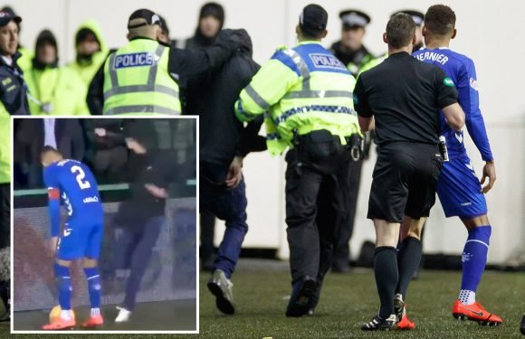 Scottish football in gutter again as Hibs fan involved in scuffle with Rangers star James Tavernier
