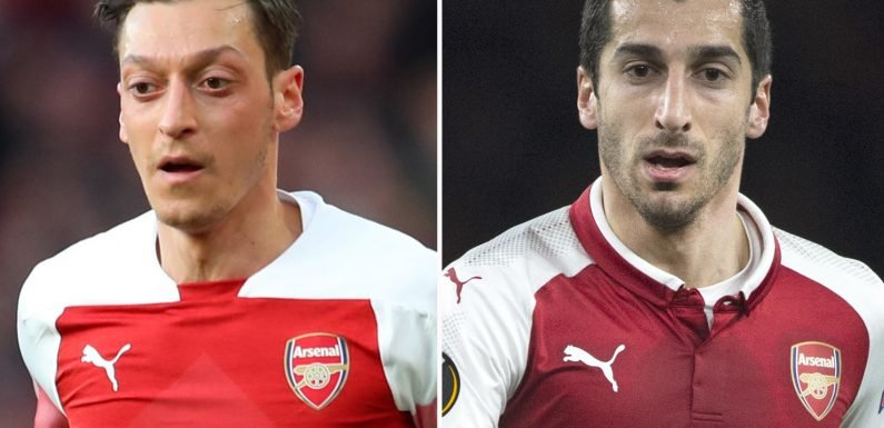 Arsenal want to offload Ozil and Mkhitaryan to free up £530,000-a-week wages and fund FOUR signings in summer transfer window