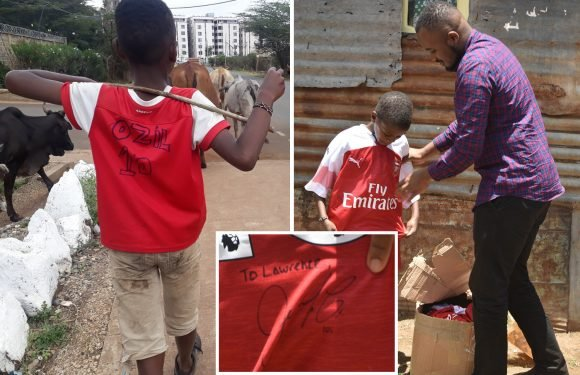 Classy Ozil sends Arsenal shirt to Kenyan boy who was pictured in homemade kit