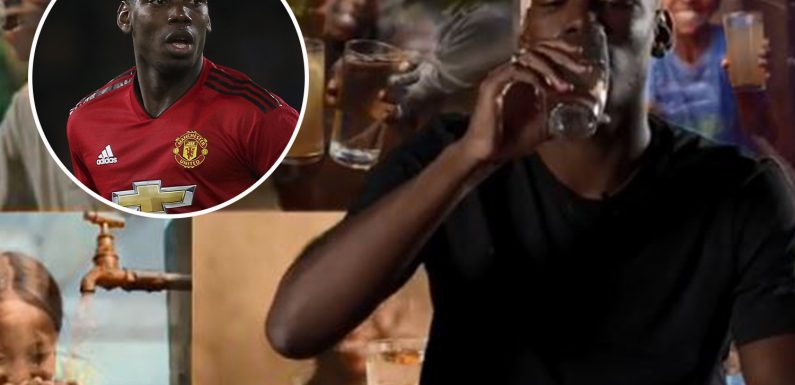 Man Utd star Paul Pogba launches clean drinking water charity campaign on 26th birthday and vows to match every pound raised
