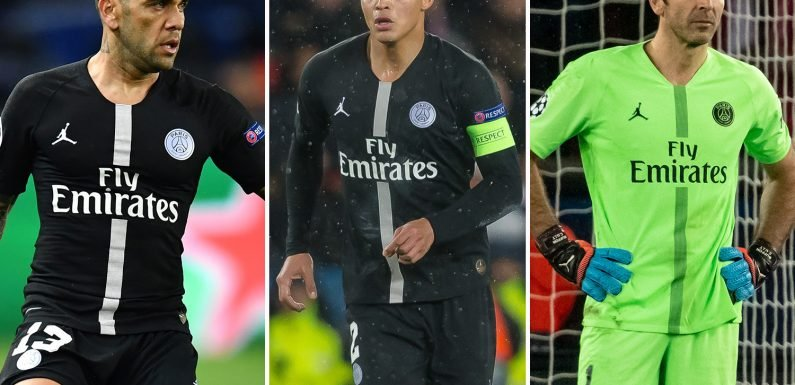 PSG yet to decide on contracts for veteran trio Alves, Silva and Buffon