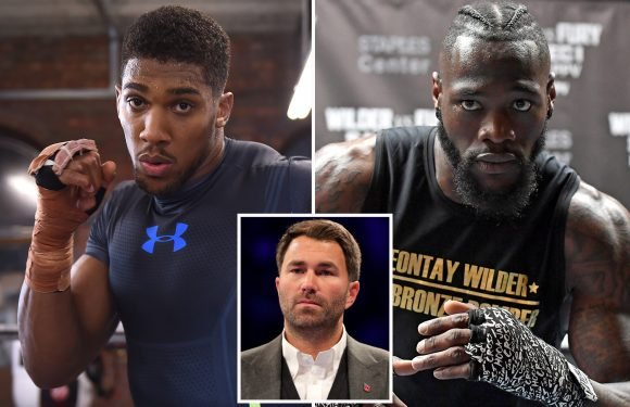 Anthony Joshua has a 'brilliant chance' of fighting Deontay Wilder this year, according to Eddie Hearn