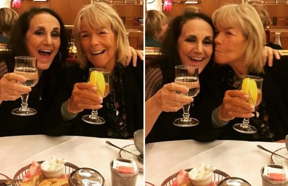 Linda Robson beams with happiness as she enjoys lunch with Birds Of A Feather pal Lesley Joseph weeks after 'meltdown' fears