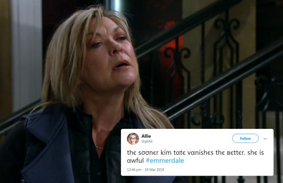 Emmerdale shock as Kim Tate plans to frame Cain Dingle for Joe's murder – despite knowing he's alive