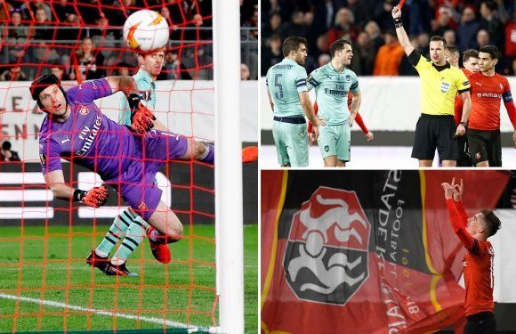 Ten-man Arsenal blow early lead through Iwobi as Monreal own goal and Sokratis red card prove costly