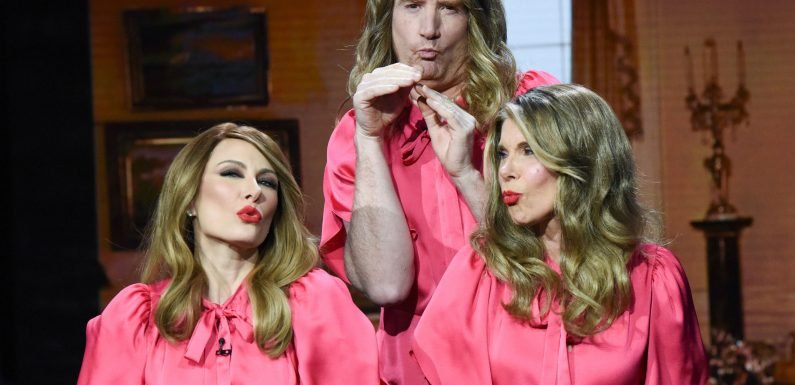 Christine Baranski is fake Melania Trump's double in Stephen Colbert bit