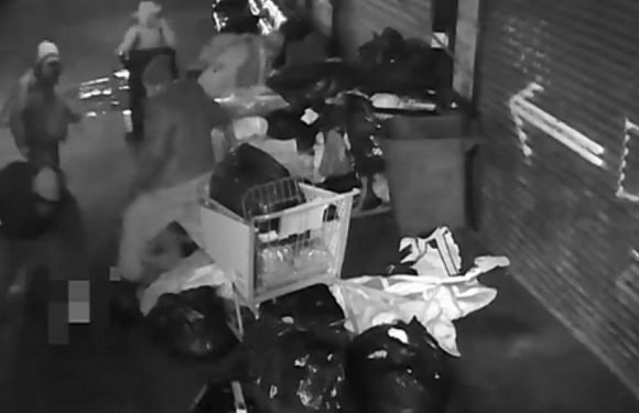 5 people caught on video beating homeless men on New York City street, stealing $5 before fleeing