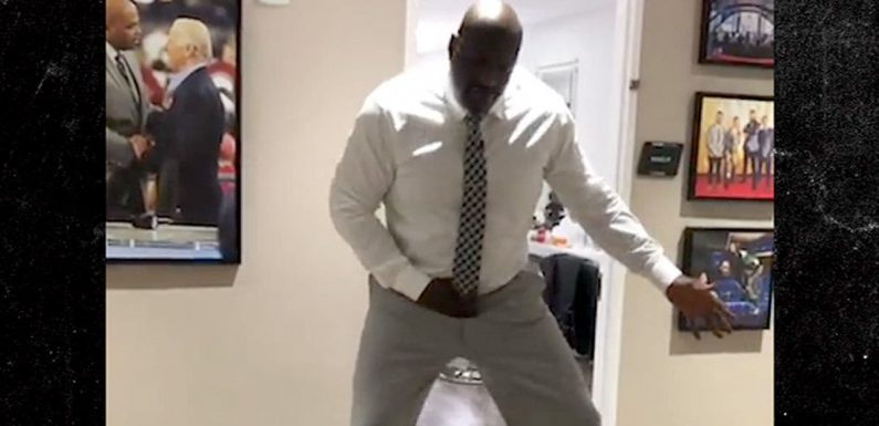Shaquille O'Neal Hits Blueface Dance, 'Bust Down Shaqiana!'