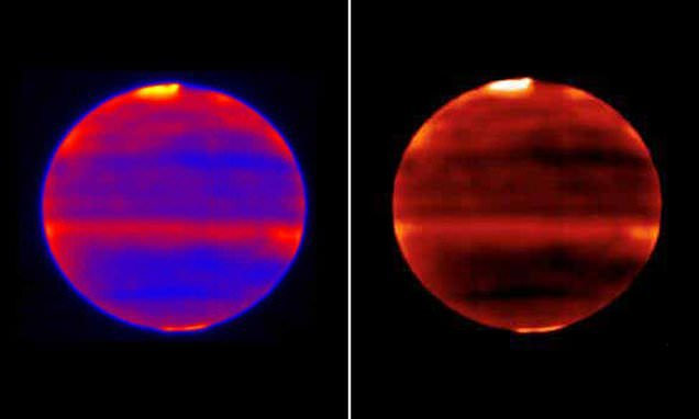 Stunning infrared images snap Jupiter's aurora at the planet's poles